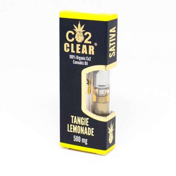 Tangie lemonade vape oil cartridge by Co2 Clear