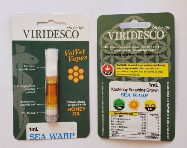 Viridesco – Seawarp Honey Oil Carts 1ml